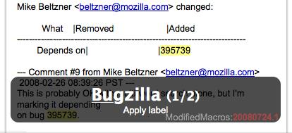 Gmail Macros Bugzilla
