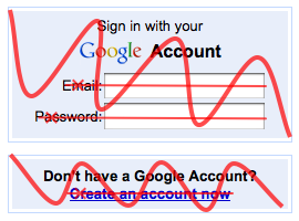 Use the site first, create an account later