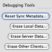 Initial Weave debugging UI to control syncing