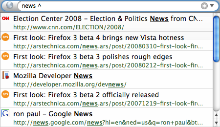 """Searching for """"news ^"""""""